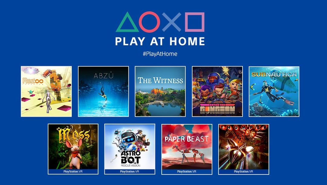 Get These PlayStation Games for Free Through the Play at Home Program