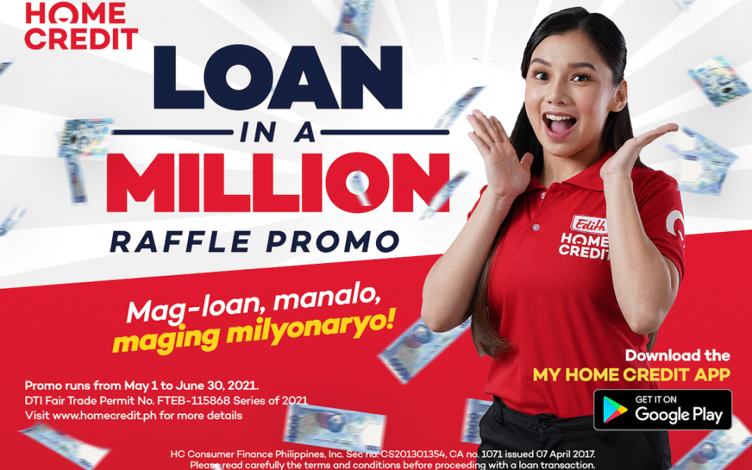 Apply for a Home Credit gadget loan at SM Cyberzone and get a chance to win up to Php 1 million with Home Credit's Loan in a Million Raffle Promo