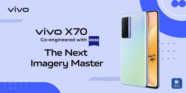 Capture life's best moments with The Next Imagery Master, vivo X70 co-engineered with ZEISS